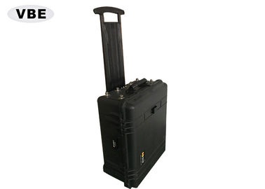 Black Shell Portable Signal Jammer Hand Pull Box Structure 1000W Power Consumption